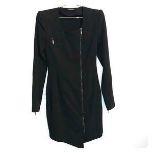 Black Halo | Stretch Garbadine Mini Jacket Dress